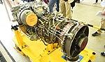 T700-IHI-401C2 turboshaft engine left rear top view at Maizuru Air station May 18, 2019.jpg