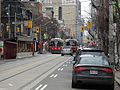 TTC streetcar 4079 heading west, and streetcar 4010 heading east, on King, 2014 12 26.JPG - panoramio.jpg