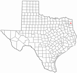 Location of Linden, Texas