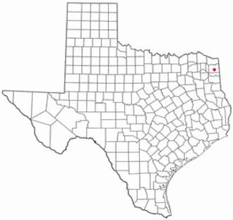 Linden, Texas - Image: TX Map doton Linden