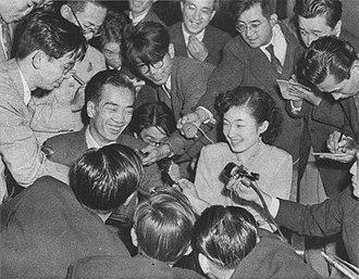 Atsuko Ikeda - Atsuko and Takamasa Ikeda on 10 October 1952
