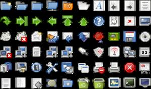 Tango Desktop Project - Image: Tango example icons
