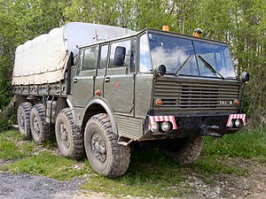 Central tire inflation system - Tatra T813 prototype had CTIS already in 1960, it later became standard for all Tatra military trucks.
