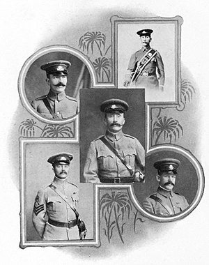 Shanghai Volunteer Corps - British Officers of the SVC in 1908.