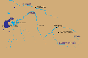 Nura River - Image: Tengis&nura