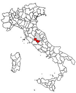Location of Province of Terni