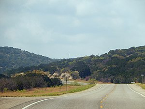 Edwards Plateau - Edwards Plateau terrain as seen from U.S. Route 277 between Del Rio and Sonora.