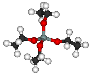 Tetraethyl orthosilicate - Image: Tetraethyl orthosilicate 3D