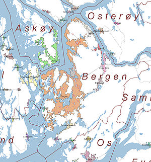Bergen - Bergen: Urban areas (Statistics Norway)