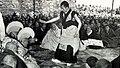 The 14th Dalai Lama during Geshe Lharampa exam 1959 in Lhasa inTibet.jpg