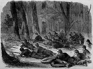 Army of the Potomac - The Army of the Potomac – Our Outlying Picket in the Woods, 1862