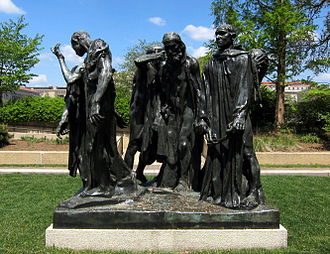 Modern sculpture - Auguste Rodin, The Burghers of Calais, 1889, Hirshhorn Museum and Sculpture Garden, Washington, D.C., cast 1943.