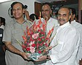 The Chief Minister of Andhra Pradesh, Dr. Y.S. Rajasekhara Reddy called on the Union Minister for Shipping, Road Transport and Highways, Shri T. R. Baalu, in New Delhi on April 22, 2008.jpg