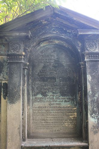 Andrew Combe - The Combe grave, St Cuthberts, Edinburgh