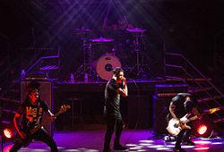 The Dead Rabbitts bei einem Auftritt im Jahr 2014.