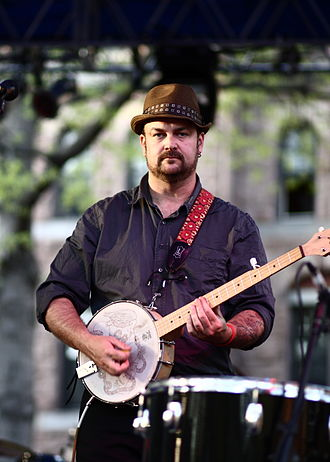 Chris Funk - Funk performing with The Decemberists, 28 April 2009