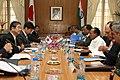 The Defence Minister of Japan, Mr. Toshimi Kitazawa and the Defence Minister, Shri A. K. Antony, at the delegation level talks, in New Delhi on April 30, 2010.jpg