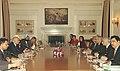 The Foreign Secretary of India, Shri Shivshankar Menon and the Pakistan Foreign Secretary, Mr. Riaz Muhammad Khan during talks, in New Delhi on November 14, 2006.jpg