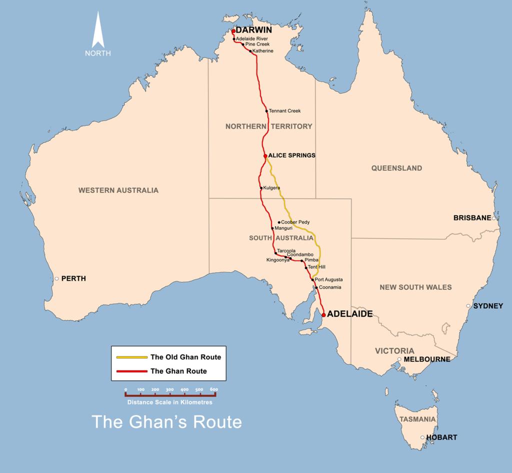 ghan, treno, australia
