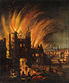 The Great Fire of London, with Ludgate and Old St. Paul's - Google Art Project.jpg