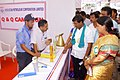 The MLA, Armoor, Shri A. Jeevan Reddy and the District Magistrate and District Collector, Nizamabad, Smt. Dr.Yogitha Rana along with other officials visiting the stalls at the Public Information Campaign, at Armoor.jpg