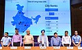 The Minister of State for Housing and Urban Affairs (IC), Shri Hardeep Singh Puri launching the Ease of Living Index, at a press conference, in New Delhi.JPG
