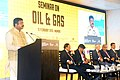 """The Minister of State for Petroleum and Natural Gas (Independent Charge), Shri Dharmendra Pradhan addressing at the Seminar on """"Oil and Gas"""", during the Make in India Week function, in Mumbai on February 15, 2016.jpg"""