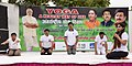 The Minister of State for Youth Affairs & Sports and Information & Broadcasting (IC), Col. Rajyavardhan Singh Rathore and other dignitaries participates in the mass yoga demonstration (3).JPG