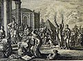 The Phillip Medhurst Picture Torah 335. The plague of boils. Exodus cap 9 vv 10-11. Jan Luyken.jpg