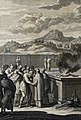The Phillip Medhurst Picture Torah 538. Examining the leper. Leviticus cap 13 vv 38-44. Sperling.jpg