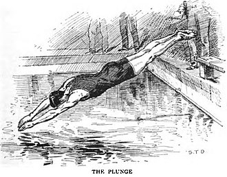 Diving (sport) - Plunging, the first competitive diving sport.