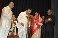 The President, Smt. Pratibha Devisingh Patil lighting the lamp to inaugurate the Maharashtra Mahotsav, in New Delhi on September 23, 2007.jpg