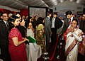 The President, Smt. Pratibha Devisingh Patil meeting the Indian Community at a Reception, hosted by the Indian Ambassador to UAE, Shri M.K. Lokesh at India Club, in Dubai on November 23, 2010.jpg