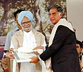 The Prime Minister, Dr. Manmohan Singh conferred honorary doctorate degree on Shri Ratan Tata at Tata Institute for Social Science (TISS), Mumbai on May 6, 2006.jpg