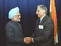 The Prime Minister, Dr. Manmohan Singh meets the Tata Group Chairman, Shri Ratan Tata during the US-India Business Council, in Washington on November 23, 2009.jpg