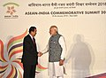 The Prime Minister, Shri Narendra Modi with the Prime Minister of the Kingdom of Cambodia, Mr. Samdech Akka Moha Sena Padei Techo Hun Sen, at the ASEAN India Commemorative Summit, in New Delhi on January 25, 2018.jpg