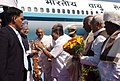The Prime Minister Dr. Manmohan Singh being received by the Chief Minister of Karnataka, Shri B. S. Yeddyurappa, at Bangalore Airport on December 03, 2008.jpg