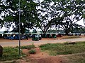The Three tyres motor cycle (popularly called Bajaj) stand at Sokoine University of Agriculture-Main campus front view.jpg