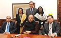 The Union Minister for Finance, Corporate Affairs and Information & Broadcasting, Shri Arun Jaitley at the launch of the Official YouTube channel of the Ministry of Finance, in New Delhi. The Finance Secretary.jpg