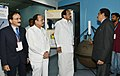 The Vice President, Shri M. Venkaiah Naidu looking at the various facilities at the Indian National Centre for Ocean Information Services (INCOIS) and the National Tsunami Warning Centre, in Hyderabad.JPG