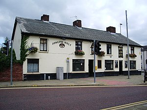 Listed buildings in Westhoughton - Image: The White Lion, Market Street, Westhoughton geograph.org.uk 533787