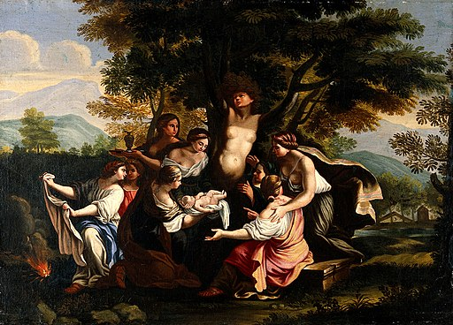 The birth of Adonis and the transformation of Myrrha. Oil pa Wellcome V0017239
