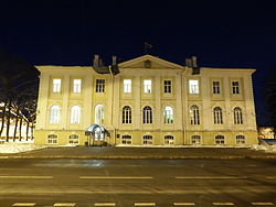 The building of Petrodvorets district administration, Peterhof, St.Petersburg.JPG