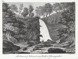 The cataract of Melincourt near Neath in Glamorganshire