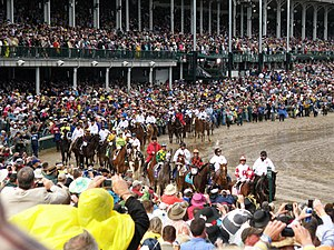 2010 Kentucky Derby - Procession to the starting gate.