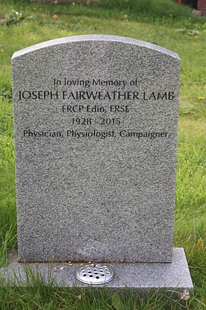 Joseph Fairweather Lamb - The grave of Joseph Fairweather Lamb, Dean Cemetery, Edinburgh