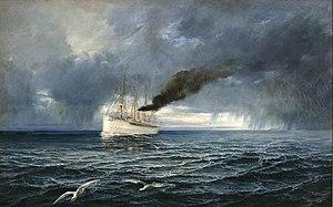 Theodor Ohlsen - Dampfschiff 'Kaiser Wilhelm II' auf hoher See.jpg