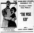 Thewisekid - newspaperad - 1922.jpg