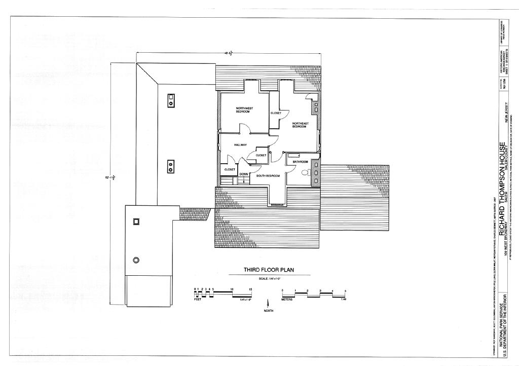 File Third Floor Plan Richard Thompson House 109 West