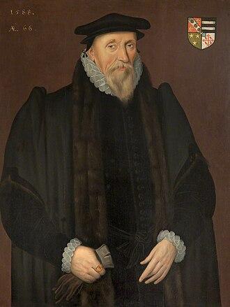 Thomas Aldersey - Thomas Aldersey, by Robert Peake the Elder (1588)